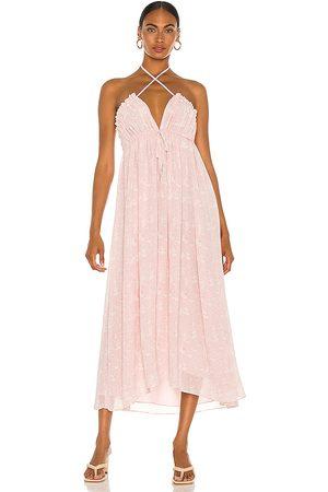 Tularosa Senhora Vestidos Compridos - Lee Maxi Dress in - Mauve. Size L (also in XXS, XS, S, M, XL).