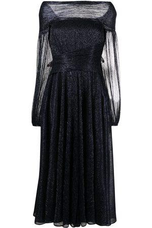 TALBOT RUNHOF Bonton metallic off-shoulder dress