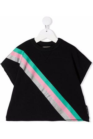 Le pandorine Stripe print short-sleeved sweatshirt