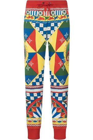 Dolce & Gabbana Senhora Calças Desportivas - Multi-panel geometric-print track pants