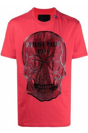 Philipp Plein Skull-studded cotton T-shirt