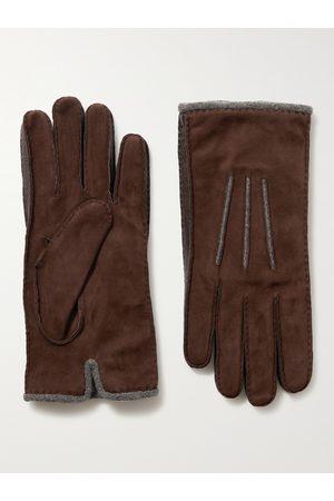 LORO PIANA Homem Luvas - Damon Baby Cashmere-Lined Suede Gloves