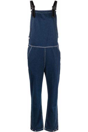 Burberry Contrast-stitch denim jumpsuit