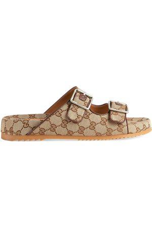 Gucci Homem Sandálias - GG Supreme-print mule sandals
