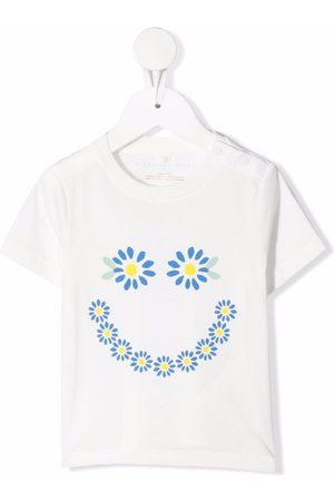 Stella McCartney Kids Floral-print organic-cotton T-shirt