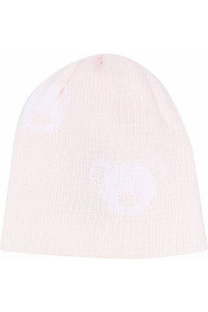 LITTLE BEAR Purl-knit cotton beanie