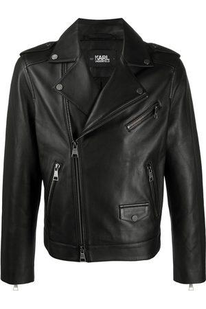 Karl Lagerfeld Homem Casacos de Pele - Ikonic leather biker jacket