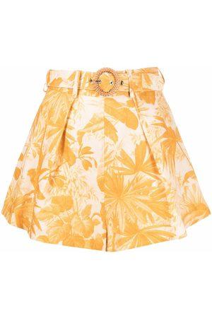Zimmermann Mae Palm high-waisted shorts