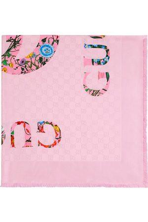 Gucci Flora-print vintage jacquard scarf