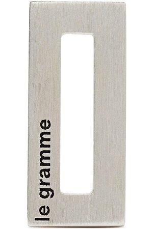 Le Gramme Homem Colares - Logo-engraved rectangle pendant