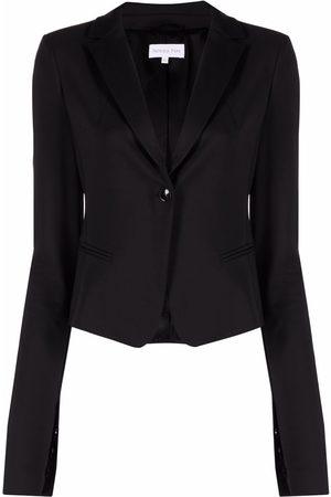 Patrizia Pepe Single-breasted slit-sleeve blazer