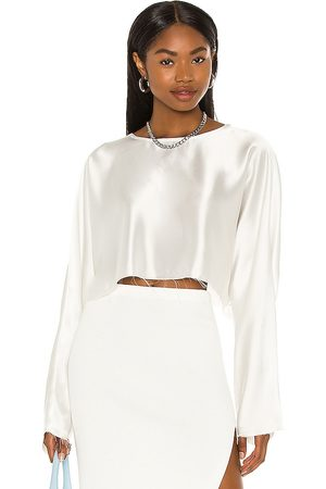 NONchalant Emilia Blouse in - Ivory. Size L (also in XS, S, M).