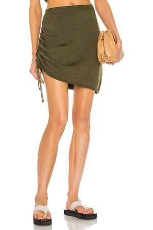 JoosTricot Senhora Mini-saias - String Mini Skirt in - Olive. Size L (also in XS, S, M).