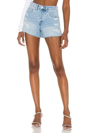 BLANK NYC Barrow Cut Off Shorts in - Denim-Light. Size 24 (also in 26, 25, 27, 28, 29, 30, 31).