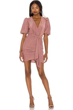 Saylor Deb Mini Dress in - Mauve. Size L (also in S, XS, M).
