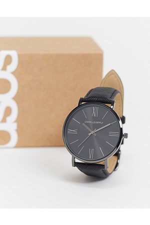 ASOS DESIGN Homem Relógios - Classic watch with saffiano strap in black