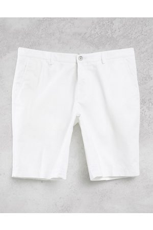Boss Business Slice pleated chino shorts-White