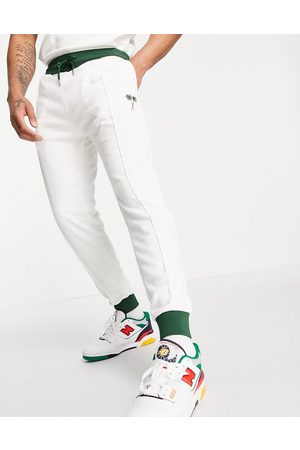 River Island Homem Joggers - Towelling jogger in white