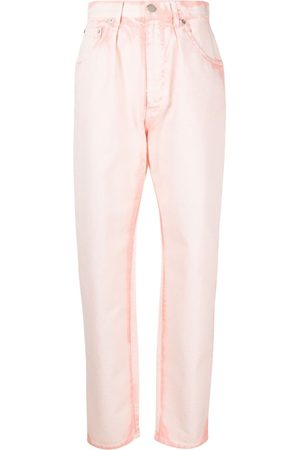 Alberta Ferretti Senhora Tapered - Bleach-wash tapered jeans