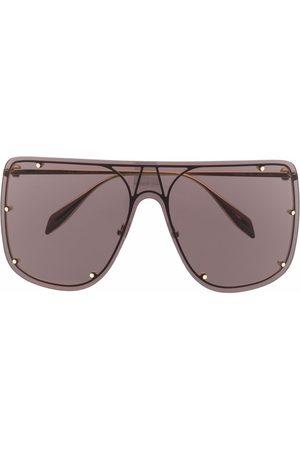 Alexander McQueen Óculos de Sol - Stud-detail aviator sunglasses