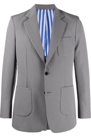 Viktor & Rolf Perforated-detail single-breasted suit
