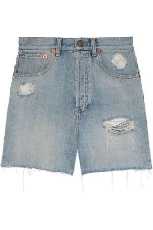 Gucci Eco-washed denim shorts