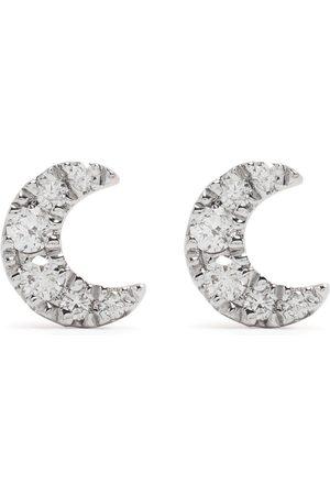 DJULA 18kt rose gold diamond Moon earrings