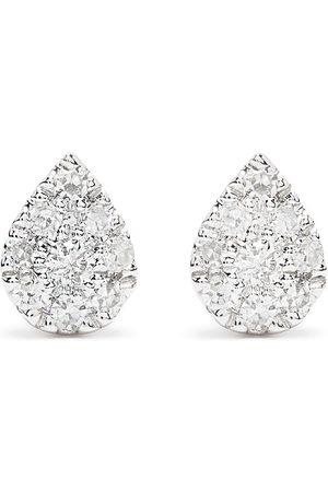 DJULA Homem Brincos - 18kt white gold diamond Pear earrings