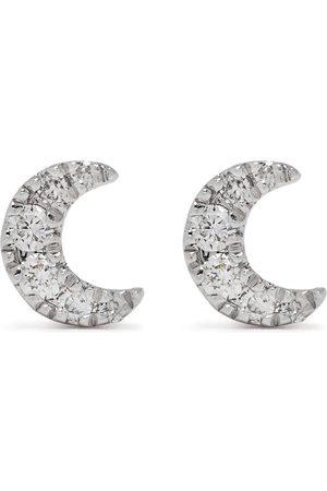 DJULA 18kt white gold diamond Moon earrings