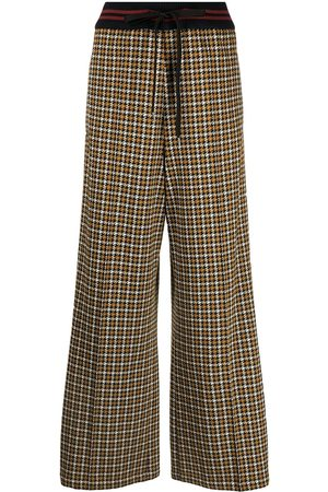 Marni Houndstooth wide-leg trousers