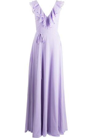 Marchesa Notte Senhora Vestidos de Festa - Ruffle-trim floor-length gown