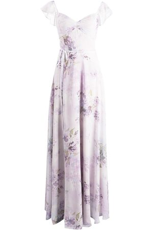 Marchesa Notte Floral-print floor-length dress