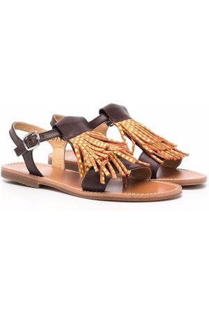 GALLUCCI Tassel trim sandals