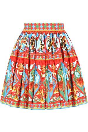 Dolce & Gabbana Graphic-print flared skirt