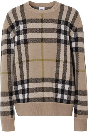Burberry Check-pattern cashmere jumper