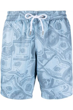 Philipp Plein Dollar-print swimming shorts