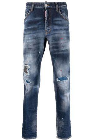 Dsquared2 Homem Retos - Distressed paint splatter jeans