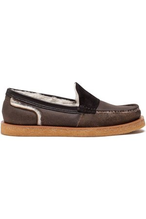 Dolce & Gabbana Homem Oxford & Moccassins - Calfskin and merino wool loafers