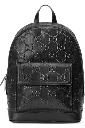 Gucci Homem Mochilas - GG-embossed zipped backpack