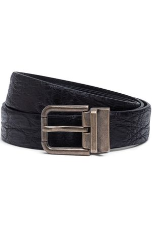 Dolce & Gabbana Textured leather belt