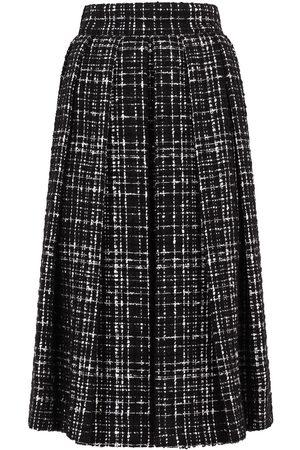 Dolce & Gabbana Senhora Saias - Tweed A-line skirt