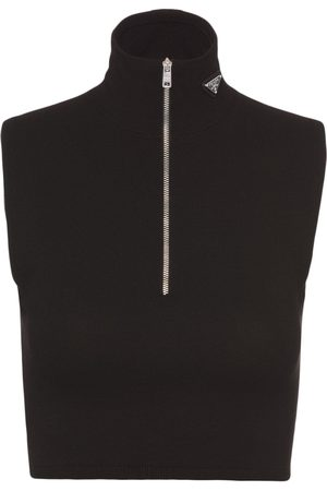Prada Cropped sleeveless top