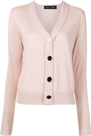 Proenza Schouler Senhora Camisolas - Buttoned V-neck cardigan