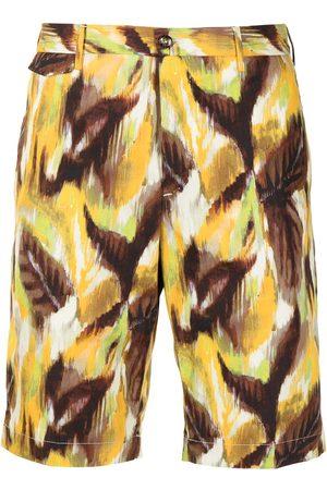 PT01 Painterly-print bermuda shorts