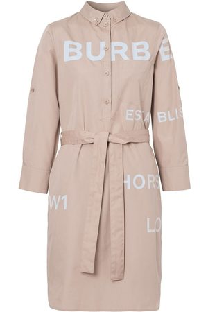 Burberry Kiley belted logo print dress