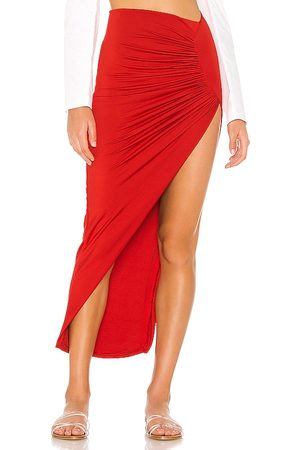 superdown Candice Slinky Maxi Skirt in - Red. Size XS (also in M).