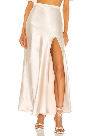 LPA Dalya Skirt in - Metallic Neutral. Size L (also in XXS, XS, S, M, XL).