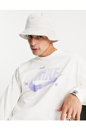Nike Homem Chapéus - Washed bucket hat in sand-Neutral