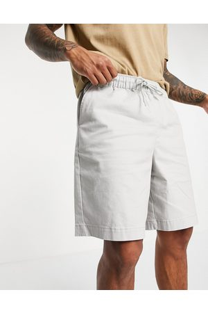 ASOS DESIGN Homem Calções - Boxy chino shorts with elasticated waist in light grey
