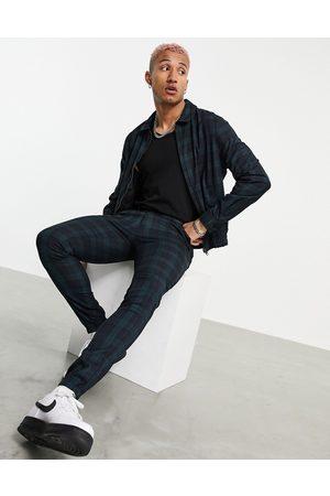 ASOS Homem Casacos - Co-ord smart harrington jacket with tartan check in green